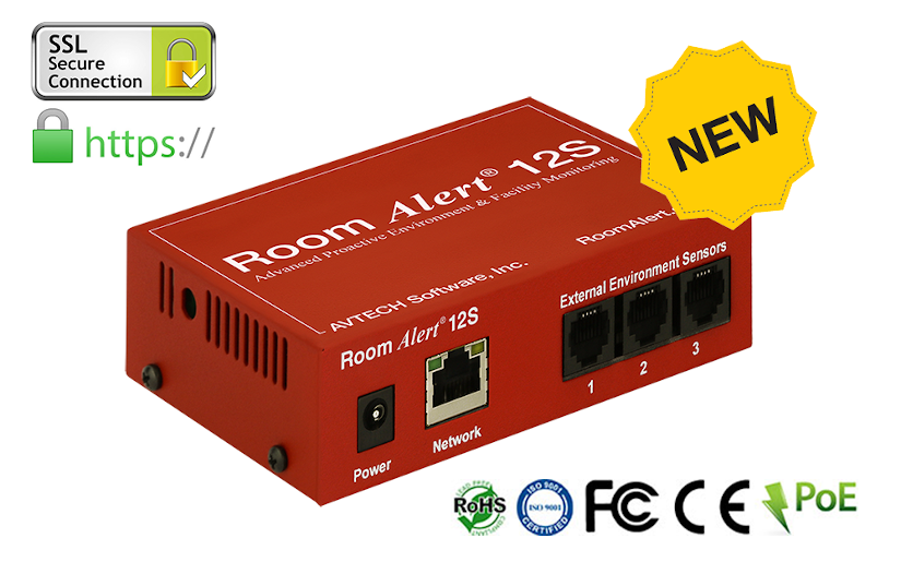 Announcing the new AVTECH Room Alert 12S / 12SR