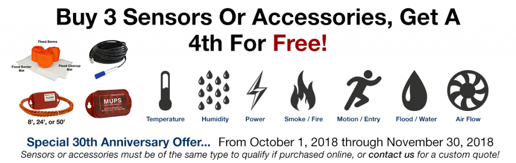Buy 3 AVTECH Sensors or Accessories, Get 1 Free until 30th November 2018!