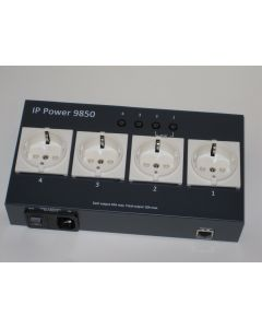 Aviosys IP Power 9850 Ethernet Remote Power Switch with 4 EU Sockets