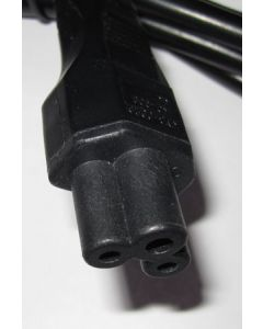 UK Power lead 1.8m Clover Leaf C5 connector