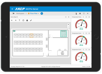 AKCPro Server in tablet